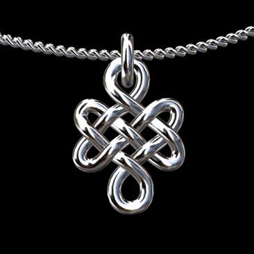 Love-Buddhist-Knot-14K-White-Gold-Pendant-P1450WPP
