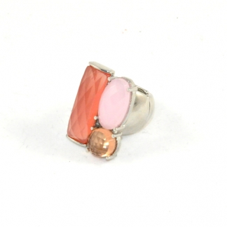 Multi Stone Ring Blush & Pink, €9,95. Deze is