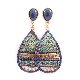 Blue & Turquoise Drop Earrings. Momenteel in de sale voor €7,49 en
