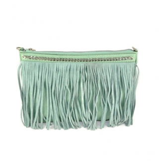 Chain & Fringes Clutch Mint, €34,95. Deze is