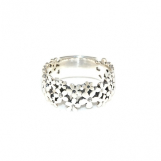 Sterling Silver Flower Field Ring, €22,95. Deze is