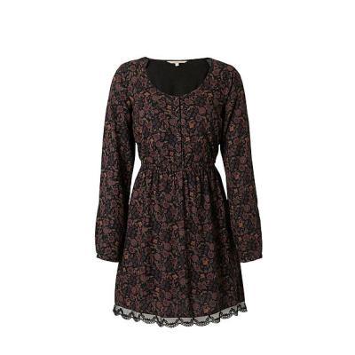 C&A Clockhouse jurk in Paars/Zwart €19,90.
