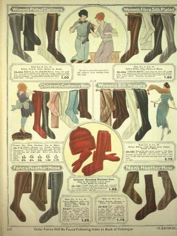 Een advertentie voor kousen. 1920-1921.