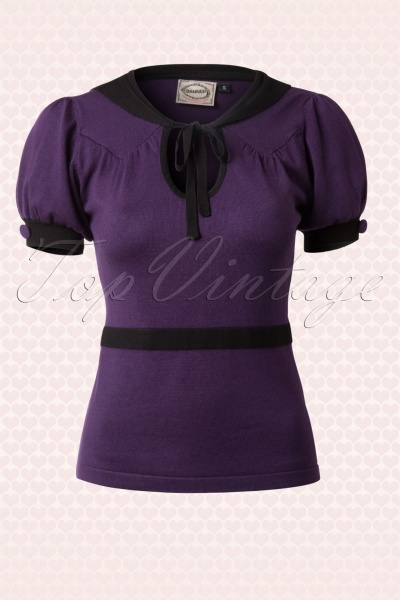 New in bij Topvintage! Banned - 40s Demure Top in Purple € 29,95.