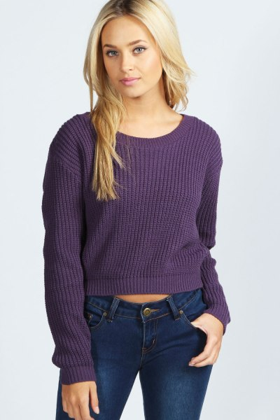 Ellie Crop Fisherman Jumper €14,00. De crop trend continues!