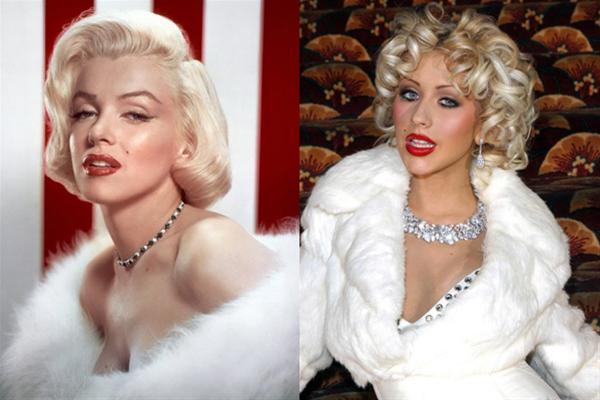 Christina Aguilera vs Marilyn.