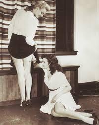 "1940's nylon depression. ""Let's pimp our stockings."""