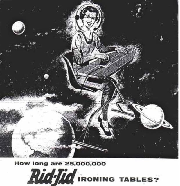 Een reclame voor strijkplanken, 1957. *Facepalm*