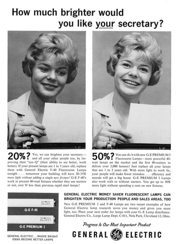1967, reclame voor gloeilampen. Like OMG...