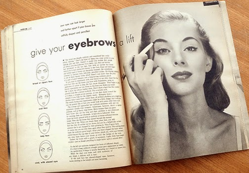 Give your eyebrows a lift vintage magazine