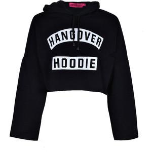 Lexi Hangover Slogan Oversized Crop Hoodie €20,00.