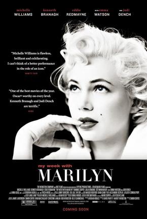 Officiële filmposter van My week with Marilyn, 2011.