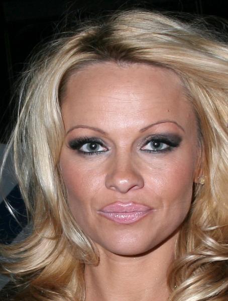 De welbekende streepjeswenkbrauwen van Pamela Anderson. Zó niet mijn stijl dit!