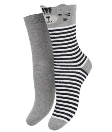 2 pack sokken Stripy cat €4,99.