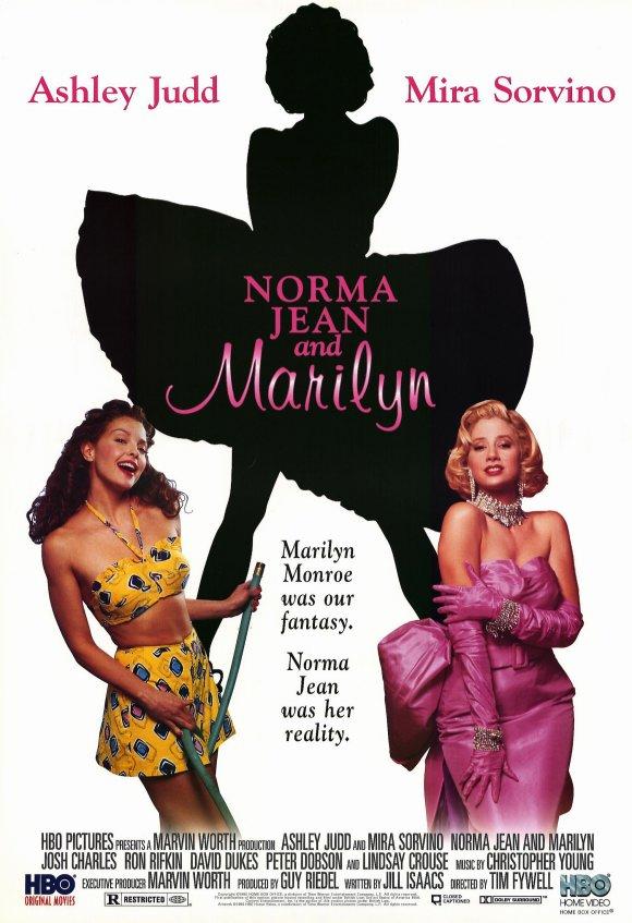 Officiële filmposter van Norma Jeane and Marilyn, 1996.