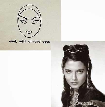 Vintage Eyebrows almond eyes