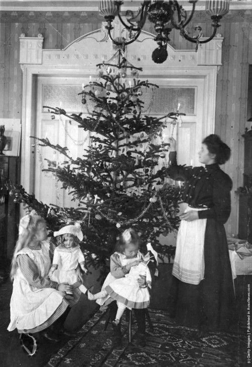 De boom optuigen in 1907.