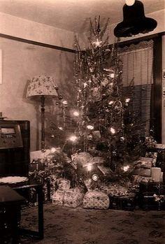 Een kerstboom in de jaren 30.