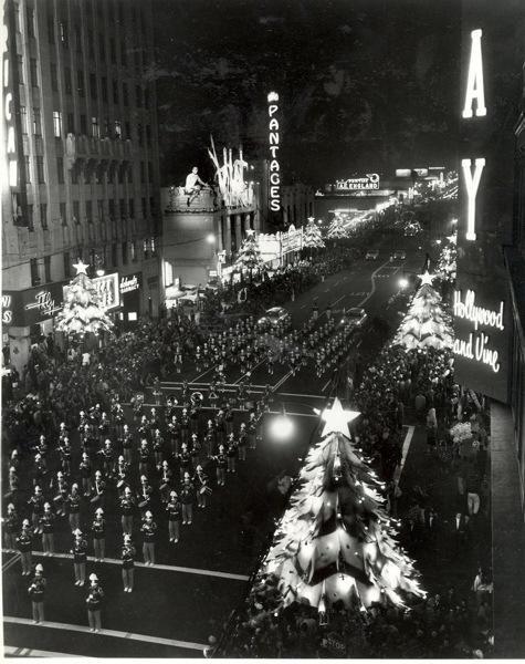 Christmas Parade, Los Angeles, 1930.