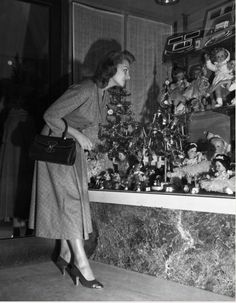 Christmas Window Shopping, 1955.