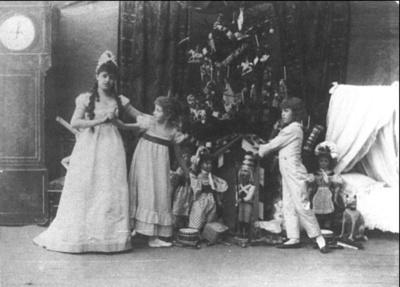 De eerste uitvoering van De Notenkraker 1892.