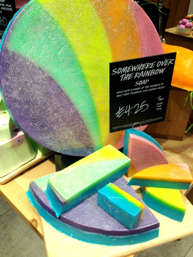 Somewhere over the rainbow soap Chester Lush