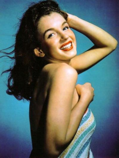 Norma Jean Baker aka Marilyn Monroe.