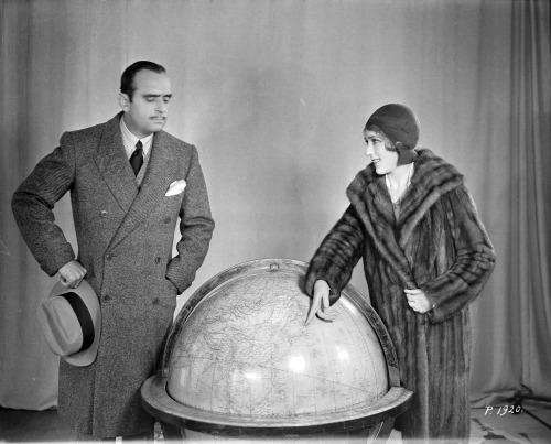 Mary Pickford en Douglas Fairbanks, 1928.
