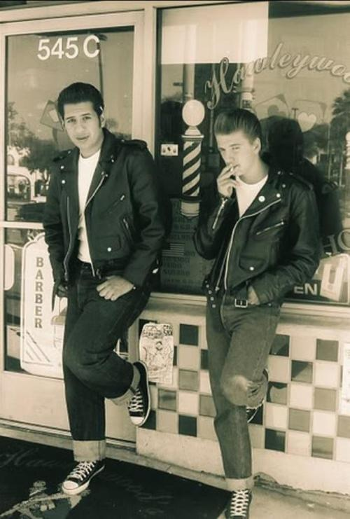 1950s greasers.