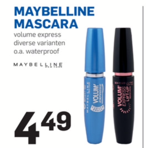 Maybelline mascara is áltijd goed. Voor een fijn budget prijsje nu bij de Action.