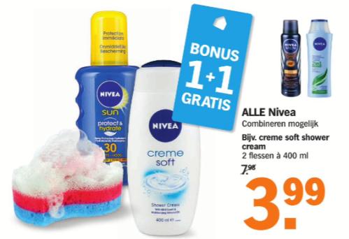 Deze week in de bonus: álles van Nivea! 1+! gratis.