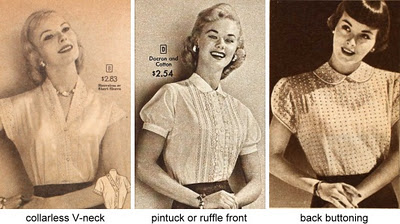 Blouse Collars, 1950s.