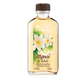ntdek het schoonheidsgeheim van de Tahitiaanse vrouw en gebruik deze wonderolie met een exotisch parfum.  Deze olie bevat een sterke concentratie Monoï de Tahiti en beschermt de huid tegen uitdroging als gevolg van externe factoren (zon, zee). Bovendien zorgt de olie ervoor dat de zongebruinde kleur langer behouden blijft. Al direct na het aanbrengen wordt de huid gevoed en is ze zacht als satijn. Of masseer de olie voor het wassen als verzorging in uw haar. U zult merken dat het haar zachter en soepeler aanvoelt. +punt : Een veelzijdige olie die u van top tot teen laat stralen ! Plantaardig bestanddeel: Monoï de Tahiti. Bevat geen minerale olie of parabenen.