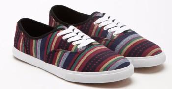 Stripe-Patterned Plimsolls, €12,50