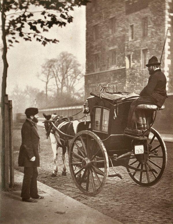 De Londense taxi in 1877.