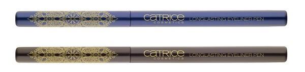 Luxury Liner. Creëer heel eenvoudig de meest precieze eyeliner stijlen en patronen met de langhoudende gel eyeliner pen. De penselen zijn gedecoreerd met een moderne vertaling van oriëntaalse ornamenten en verrijken de collectie met twee kleuren. Verkrijgbaar in: C01 Leap In The Dark en C02 Trip Into The Blue.