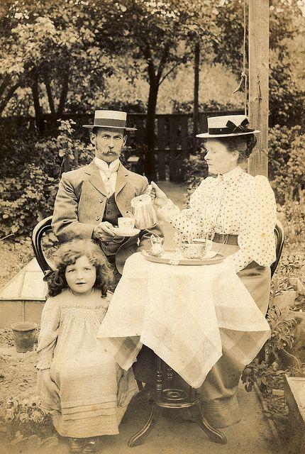 Tea time! Circa 1890.