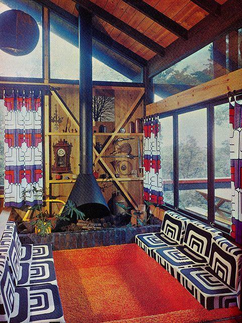 A sunken lounge, House & Garden, 1975.