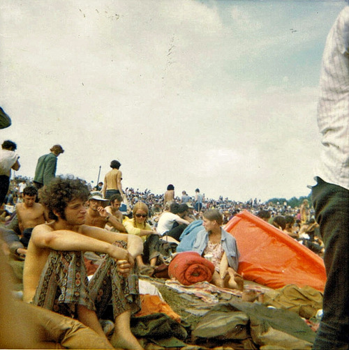 Sunday afternoon at Woodstock, 1969.