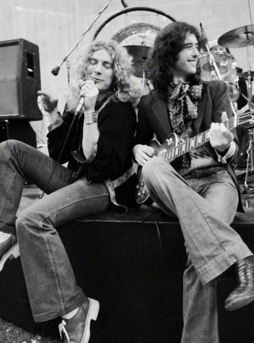 Led Zeppelin: Robert Plant en Jimmy Page gefotografeerd door Neal Preston.