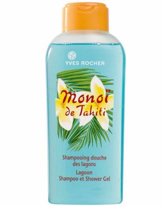 Heeft u ook zo'n behoefte aan vakantie ? Deze exotisch geurende bodyshampoo voor lichaam en haar is als een verfrissende duik in de azuurblauwe lagunes van Polynesië. De verrukkelijke geur van kokos en tiarébloemen maakt deze douchegel tot een waanzinnig exotische douchesensatie. Uw huid en haar voelen zacht aan en ruiken heerlijk. +punt : de slimme 2-in-1 formule is ideaal voor op vakantie. Plantaardige bestanddelen : 100% plantaardige olie, Monoï de Tahiti, aloë-veragel uit biologische teelt. Bevat geen parabenen of ethoxylaten.